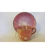 Antique Staffordshire English Bone China Cup & Saucer - Unusual Glaze Pa... - $9.99
