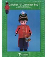 "Drummer Boyl 13"" Doll Outfit Td Creations Crochet Pattern Leaflet - NEW - $5.37"