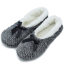 Women Indoor Home Shoe Soft Plush Lavender Large Size Foot Warmer House ... - $11.39