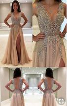 Ht9y l 610x610 dress nude dress sparkle sparkle dress prom short sequin long prom dress thumb200