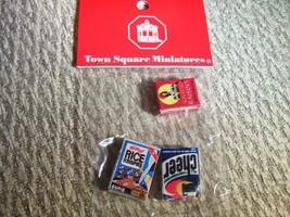 Cereal Raisins & laundry soap box boxes lot of 3 mini miniature dollhous... - $9.89
