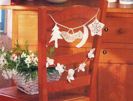 Land of Smiles Asian Wall Decor Country Hutch Garland Shelf Lace CROCHET Pattern image 3