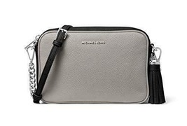 Michael Kors Medium Leather Camera Crossbody Bag (Pearl Grey/Black) - $168.00