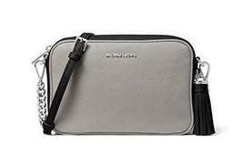 Michael Kors Medium Leather Camera Crossbody Bag (Pearl Grey/Black) - $168.00