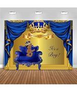 Mehofoto Royal Blue Baby Shower Backdrop Royal Prince Baby Shower Photog... - $21.80