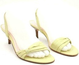 Ann Taylor Women Slingback Sandals Size US 8.5M Green Leather - $19.00
