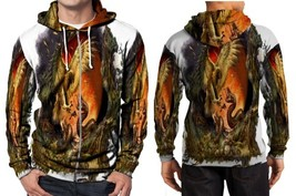 Hawk Vs Snake Clans Hoodie Zipper Fullprint Men - $60.99+