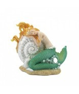 Mermaid Sleeping On Seashell Figurine - $13.99