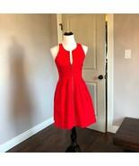 Pre-owned BB DAKOTA Red Halter Zip Front Dress SZ 6 - $58.41