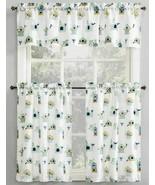 """3Pc. Curtains Set:2 Tiers (27""""x36"""") &Valance (54""""x14"""")BIRDS & BIRDHOUSE,... - $23.75"""