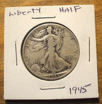 1945 Silver Walking Liberty Half Dollar - 90% Silver - $11.95
