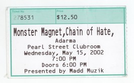 COOL Monster Magnet & Chain of Hate 5/15/02 Northampton MA Concert Ticke... - $3.99
