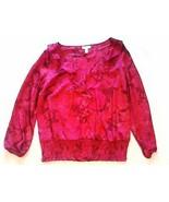 CHARTER CLUB 0X ROSE RED WOMEN'S SHIRT FREE SHIPPING! - $9.97