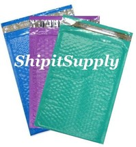 3-600 #000 4x8 ( Blue Teal & Purple ) Poly Bubble Padded Mailers Fast Sh... - $3.49+