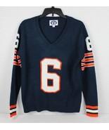 Varsity V raggs All American sweater knit blue orange acrylic vintage si... - $31.49
