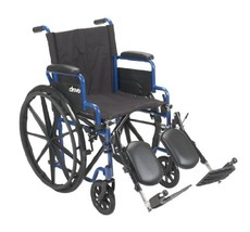 Drive Medical Blue Streak Wheelchair (Size:16 in. Seat|Elevating Leg Rests) - $181.02