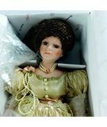 "Duck House Heirloom Dolls D18-573 ANIKA Porcelain Head 18"" Stand Dress E... - $22.99"