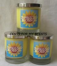 BATH AND BODY WORKS SLATKIN & CO SUN KISSED BLOSSOM GLASS JAR CANDLE 7.5 X3 - $39.55
