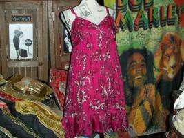 KENSIE Romantic  Fuchsia  Silk Sun Dress Size S - $14.85