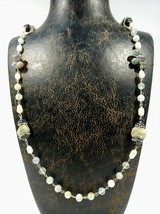 Handmade natural rutil quartz pearl necklace art pendant fine Turkish je... - $127.71