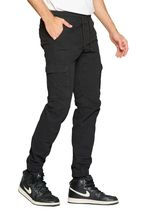 Men's Elastic Waist Cargo Pants Gym Workout Athletic Sport Casual Joggers image 7