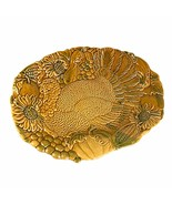 Vintage Harvest Time Turkey Thanksgiving Platter Plate Sz 19X14 in  - $77.38