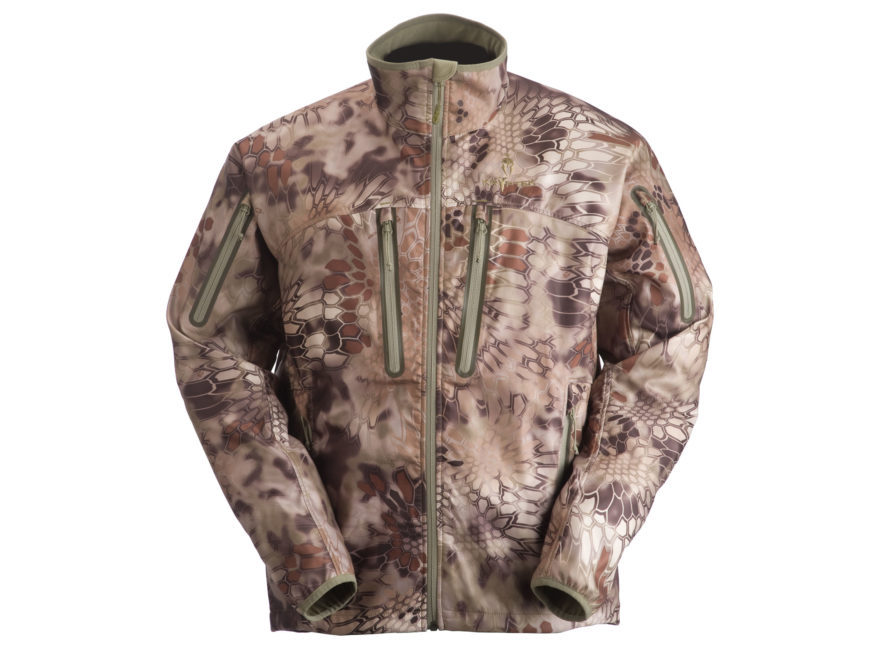 Primary image for Kryptek Einar Windsheer Softshell Jacket Highlander Camo L hunting large bora