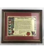 FAMILY NAME HISTORY RESEARCH FRAMED DECORATION - $18.70