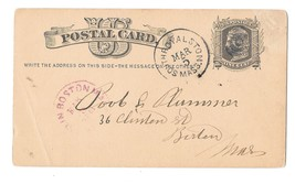 Sc UX5 South Royalston Mass 1880 Fancy Duplex Cancel Bullseye Target Postal Card - $6.99
