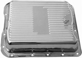 Chrome Steel  700R4  Finned Transmission Pan w/Bolts --RPC 7599  Chevy Automatic - $35.00