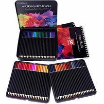 72 Watercolor Pencils Set with 2 x 50 Page Drawing Pad for Kids, Adults and Prof image 5