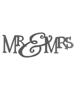 Mr & Mrs Satin Finish Metal Sign Wedding Home Rustic Decor  - $24.95
