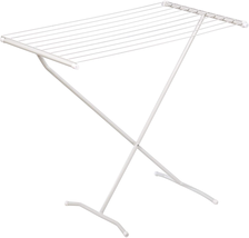 Folding Clothes Drying Rack Steel For Laundry Room Easy Storage 30-linea... - $32.66