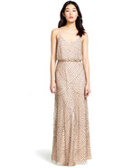 Adrianna Papell Women's Long Beaded Blouson Gown - $109.70+
