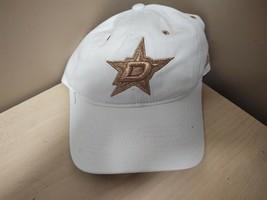 New Adidas Nhl Dallas Star Adjustable Ladies Hat White/Gold 11G3-5BJ - $9.50