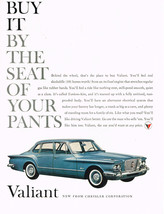 Vintage 1960 Magazine Ad Chrysler Valiant Buy It By The Seat Of Your Pants - $5.93
