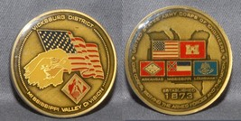 Big Colorful Army Corps Of Engineers Miss. Valley Div Vicksburg District Neat! - $18.80