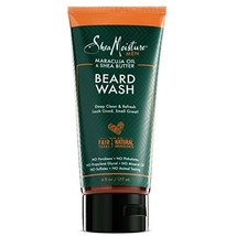Shea Moisture Mens Beard Wash, Premium All Natural ingredients, Maracuja Oil & S