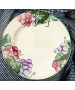Vitromaster Chateau Salad Plate, Green Trim, Grapes and Leaves - $4.70