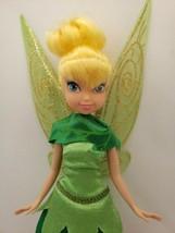 "Disney 10.5"" Tinkerbell Doll Figure w/ Dress Wings and Shoes Jakks 2010 RARE HTF - $23.38"