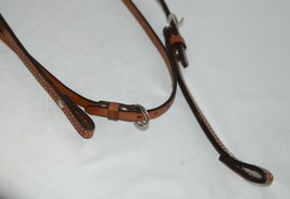 Unbranded 2593 Leather Double Buckle Browband Headstall Brown Color image 2