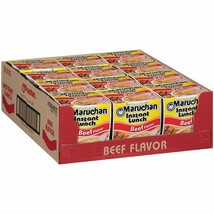 Maruchan Instant Lunch Beef, 2.25 Oz, Pack of 12 - $6.68