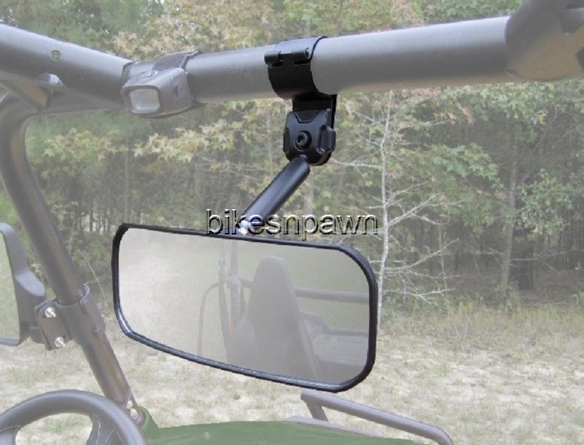 "New Seizmik Inside Rear View Mirror 2"" Bar Can Am, Mule 600, Kubota, Viking 700"