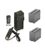 TWO 2X Batteries + Charger for Sony FDR-AX1E FDR-AX1E/B DSR-PD150 - $76.44