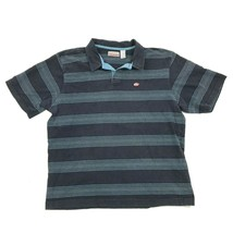 VINTAGE Quicksilver Mens Navy Blue Polo Adult XL 1X Striped Short Sleeve... - $26.38