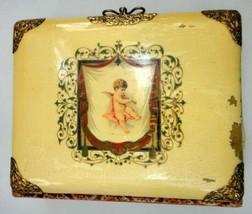 antique CELLULOID ANGEL BABY ALBUM 45 PHOTOS infant baby children people - $124.95