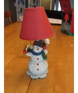 Christmas Holiday Snowman Stand Up Night Light - Wonderland Lamp Collection - $9.89