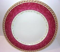 "Seasons Of Colour Red Dinner Plate Royal Albert Gold Trim 10-7/8"" - $35.59"