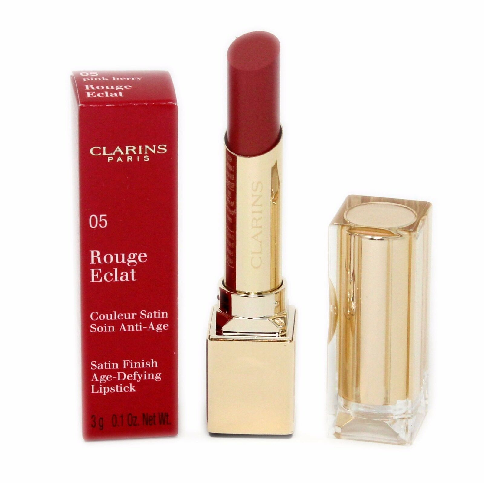 Primary image for CLARINS ROUGE ECLAT SATIN FINISH AGE-DEFYING LIPSTICK 3G #05 NIB-442851