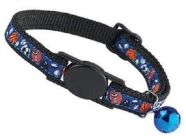 "Savvy Tabby Multi-Sports Adjustable Breakaway Nylon Cat Collar 8 to 12"" ... - $6.79"